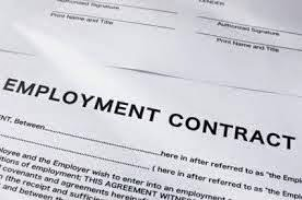 INFO ABOUT YOUR CONTRACT OF EMPLOYMENT