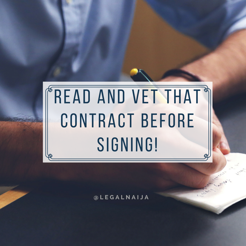 What you should know before signing a contract (Part 2)