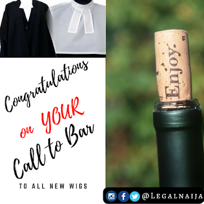 Congratulations to all the New Wigs on their Call to Bar
