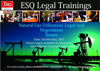 Invitation To ESQ. Training on Natural Gas Utilization: Legal And Negotiation Issues