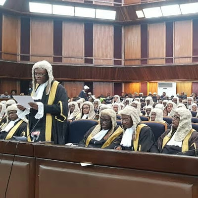 Paul Usoro SAN Leads The Bar To Mark Beginning Of  2018/2019 Legal Year And Conferment Of SAN