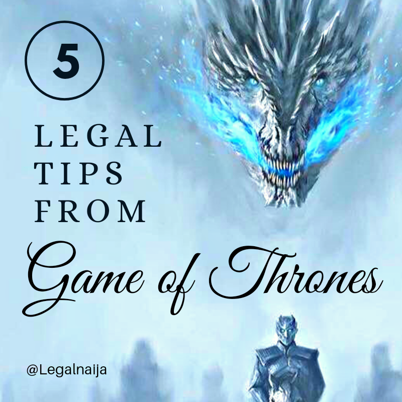 Infograph: Law Lessons From The Game Of Thrones