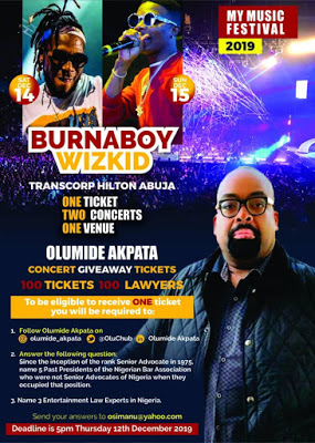 Olumide Akpata Gives Free Concert Ticlets To 100 Lawyers In Abuja