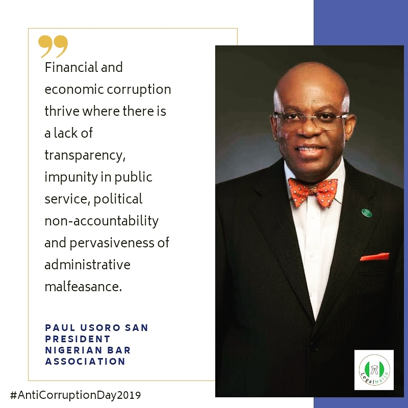 Anti – Corruption Day 2019