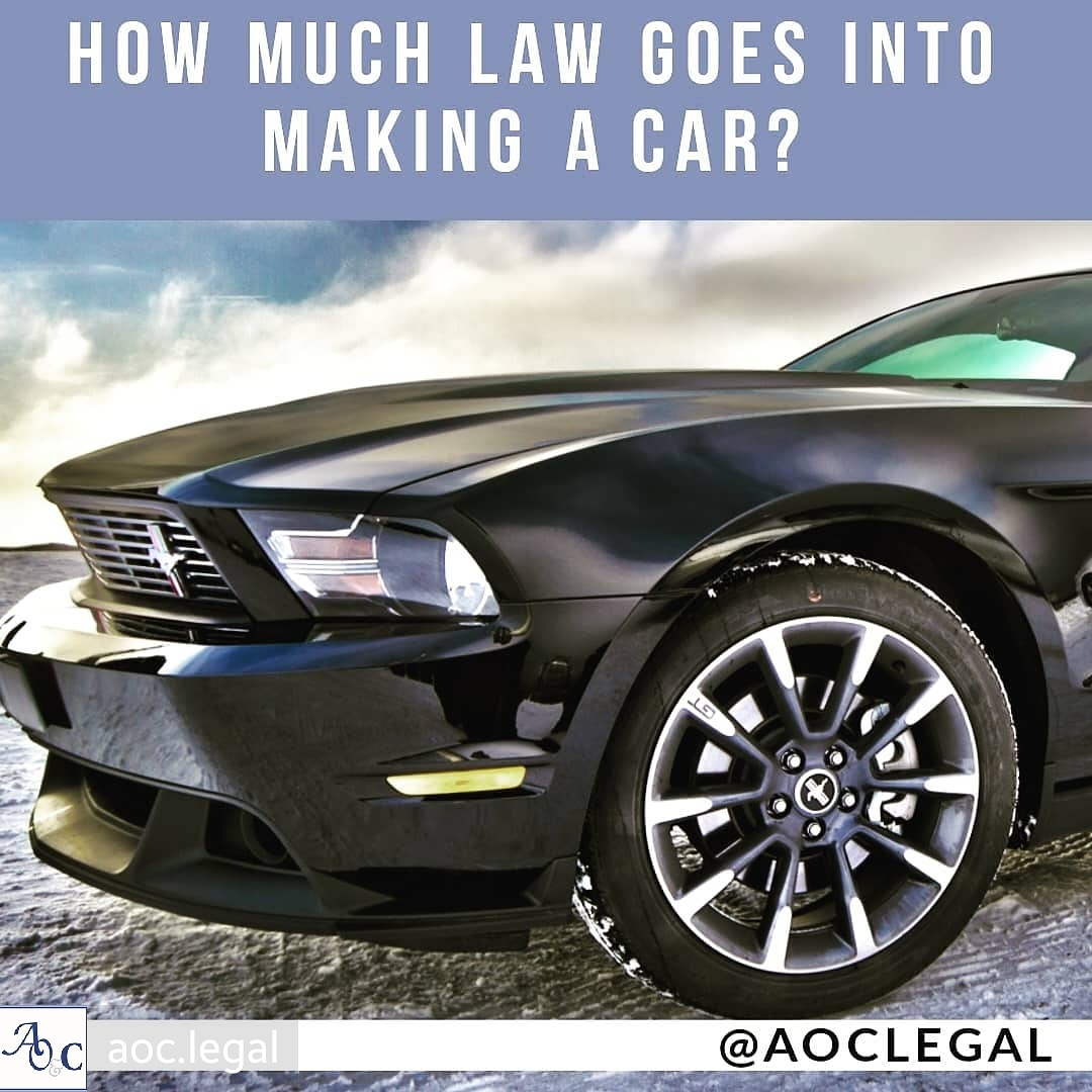 How much law goes into making a car
