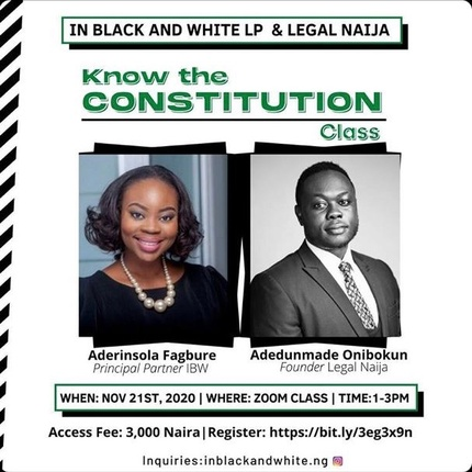 Learn The Nigerian Constitution By Registering For This Class