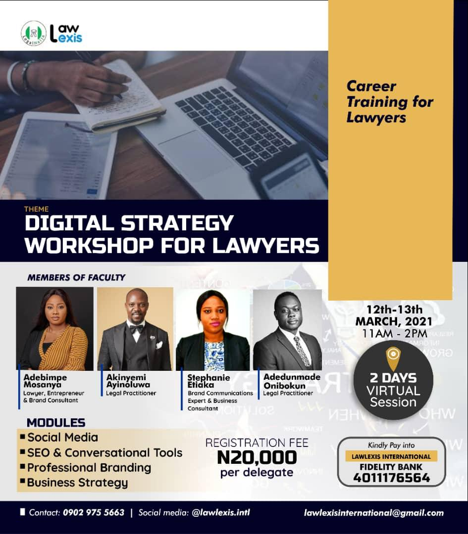 Register For The Digital Strategy Workshop For Lawyers